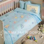 Pościel niemowlęca Tac Bio My Little Baby - niebieska - 4 elem. w sklepie internetowym Niemajakwdomu.com