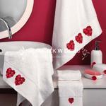Komplet ręczników Tac - Serduszka 2 - 3 szt. w sklepie internetowym Niemajakwdomu.com