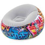 Fotel dmuchany pufa 3 kolory 112 x 112 x 66 cm Bestway 75052 w sklepie internetowym Baseny-dmuchane.pl