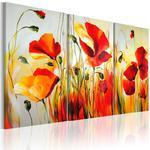 Obraz malowany - Czerwona łąka w sklepie internetowym Radimar
