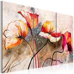Obraz malowany - Maki smagane wiatrem w sklepie internetowym Radimar