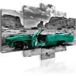 Obraz - Zielone auto OBRAZ NA PŁÓTNIE WŁOSKIM w sklepie internetowym Radimar