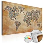 Obraz na korku - Pocztówki ze świata [Mapa korkowa] w sklepie internetowym Radimar