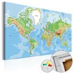 Obraz na korku - Geografia świata [Mapa korkowa] w sklepie internetowym Radimar