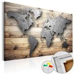 Obraz na korku - Srebrny świat [Mapa korkowa] w sklepie internetowym Radimar