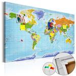 Obraz na korku - Mapa świata: Flagi państw [Mapa korkowa] w sklepie internetowym Radimar