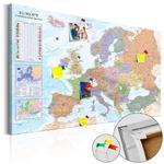 Obraz na korku - Mapy świata: Europa [Mapa korkowa] w sklepie internetowym Radimar