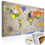 Obraz na korku - Mapa świata: Styl retro [Mapa korkowa] w sklepie internetowym Radimar