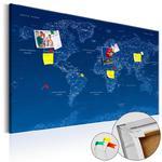 Obraz na korku - Mapa świata: World Connection [Mapa korkowa] w sklepie internetowym Radimar