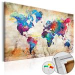 Obraz na korku - Mapa świata: Styl miejski [Mapa korkowa] w sklepie internetowym Radimar