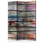 Parawan 3-częściowy - Kolorowe drewno [Room Dividers] w sklepie internetowym Radimar