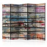 Parawan 5-częściowy - Kolorowe drewno II [Room Dividers] w sklepie internetowym Radimar