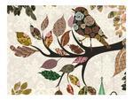 Fototapeta - Ptaszek na gałęzi (patchwork) w sklepie internetowym Radimar