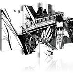 Obraz - Koncert jazzowy na tle nowojorskich wieżowców - 5 częsci w sklepie internetowym Radimar