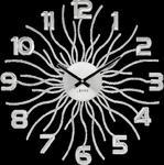 Zegar na ścianę SREBRNY zegar ścienny duży w sklepie internetowym Radimar