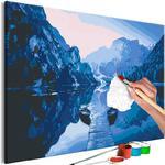 Obraz do samodzielnego malowania - Łodzie na jeziorze w sklepie internetowym Radimar