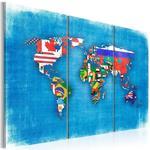 Obraz - Flagi świata - tryptyk w sklepie internetowym Radimar