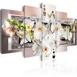 Obraz - Biały abstrakcyjny storczyk w sklepie internetowym Radimar