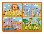 Układanka safari - zwierzęta z małymi w sklepie internetowym fifishop
