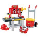 Ecoiffier Warsztat 4w1 z wózkiem i skrzynką na narzędzia Mecanics 22 elementy w sklepie internetowym fifishop