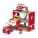 Drewniana Stacja Remiza Strażacka Garaż Akcesoria Wóz Strażacki Viga Toys w sklepie internetowym fifishop
