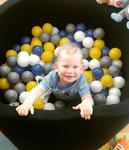 Suchy basen dla dzieci z piłeczkami 90x30 okrągły - czarny w sklepie internetowym fifishop