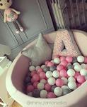 Suchy basen dla dzieci z piłeczkami 90x30 okrągły - pudrowy róż w sklepie internetowym fifishop