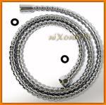 Wąż natryskowy 150 cm W80 FERRO z nakrętką stożkową perełkowy w sklepie internetowym EGO-STYLE