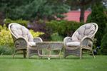 Rustykalne meble rattanowe dla dwojga - Lirene m45 - 2 fotel ze stolkiem w sklepie internetowym Akspol