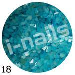 Muszla kruszona w pojemniku mu18 błękitna w sklepie internetowym Dobrarada.com.pl