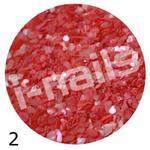Muszla kruszona w pojemniku mu02 czerwona w sklepie internetowym Dobrarada.com.pl