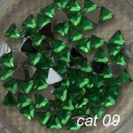 Cyrkonie akrylowe trójkąty cat09 zielone w sklepie internetowym Dobrarada.com.pl