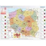 Mapa administracyjna Polski - tablica ścienna w sklepie internetowym edupomoce.pl