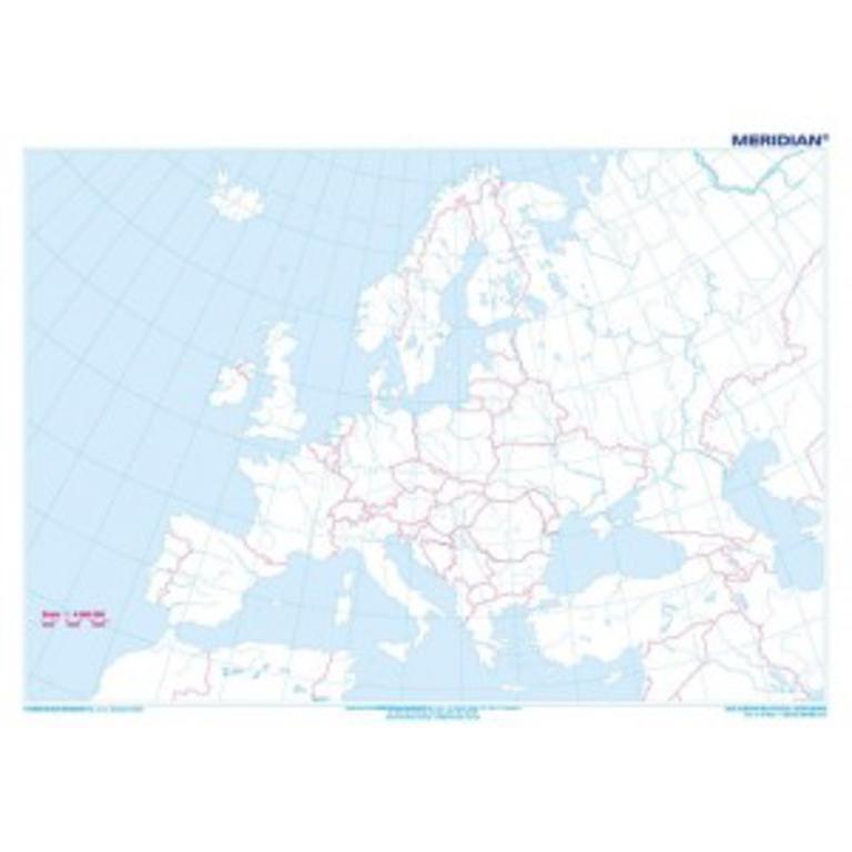 Mapa Europy Meridian Najtansze Sklepy Internetowe