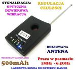 Laserowy Wykrywacz Podsłuchów, Kamer, GSM, Lokalizatorów GPS... + Słuchawki. w sklepie internetowym 24a-z.pl