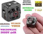 Mini-Kamera (dz-noc), Nagrywająca Obraz HD/Full HD i Dźwięk + Ap. Foto + Detekcja Ruchu + Akcesoria. w sklepie internetowym 24a-z.pl