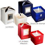 Świece sojowe JFenzi o zapachu perfum - zestaw 3 świec, La Amore, Lili Ardagio Affection, Good Life w sklepie internetowym Perfumy.Pasaz-Handlowy.com