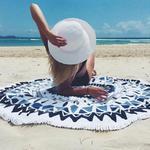 Plażowa mata, okrągły ręcznik plażowy P 378 w sklepie internetowym Royalline.pl