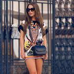 Letnia tunika w azteckie wzory P397 w sklepie internetowym Royalline.pl