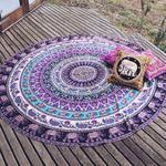 Okrągła mata plażowa/pareo. Ręcznik plażowy P 423 w sklepie internetowym Royalline.pl