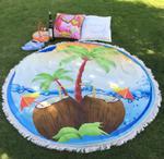 Okrągła mata plażowa/pareo. Ręcznik plażowy P 429 w sklepie internetowym Royalline.pl
