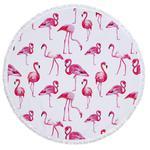 Flamingi ręcznik plażowy . Koc plażowy . Mata plażowa P492. w sklepie internetowym Royalline.pl