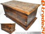 Drewniany Stylowy Zdobiony KUFER Skrzynia 50x29x28cm w sklepie internetowym e-trade24.pl