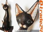 Figurka Koty Rzeźba Drewniana KOT 100cm Rękodzieło w sklepie internetowym e-trade24.pl