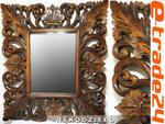 Efektowne Mastywne Drewniane LUSTRO Ornament Rękodzieło 80x70cm w sklepie internetowym e-trade24.pl