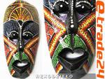 Kolorowa Rzeźba Maska Drewno - Rękodzieło 20cm MIX wzory w sklepie internetowym e-trade24.pl