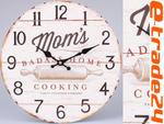 Zegar Cooking 33cm - Zegary Retro do Kuchni, Salonu w sklepie internetowym e-trade24.pl