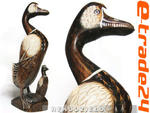 Rzeźba Drewniana Figurka KACZKA Rękodzieło 20x9cm w sklepie internetowym e-trade24.pl