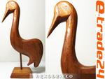 Rzeźba Drewniana Figurka PTAK Rękodzieło 27x15cm w sklepie internetowym e-trade24.pl
