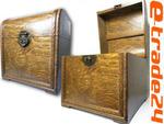 Drewniany Stylowy Zdobiony KUFER Skrzynia 24x25x26cm w sklepie internetowym e-trade24.pl